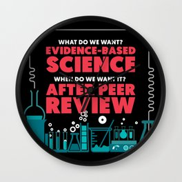 Evidence Based Science Wall Clock