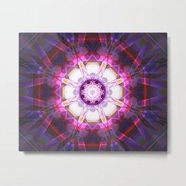 Crystal Abstract - Pink Metal Print