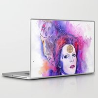 bowie Laptop & iPad Skins featuring Bowie by Kinko-White