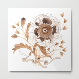 Golden Poppy Metal Print