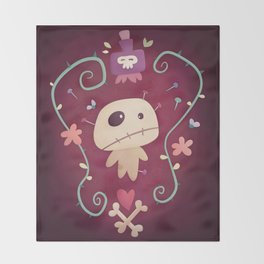 Voodoo Doll Throw Blanket