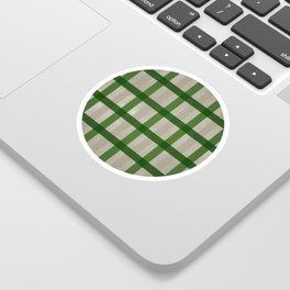 Evergreen Cozy Cabin Plaid Sticker