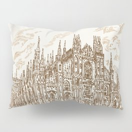 milan cathedral hand draw Pillow Sham