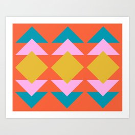 Colorful and Bold Geometric Design Art Print