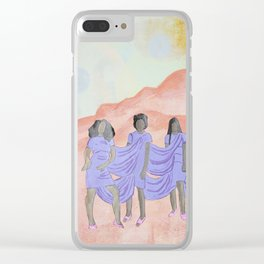 A Seat on the Mountain Top Clear iPhone Case