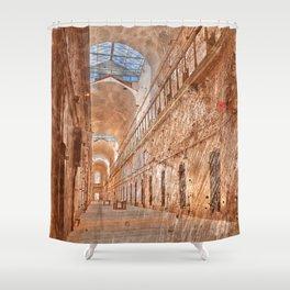 Battered Prison Corridor Shower Curtain