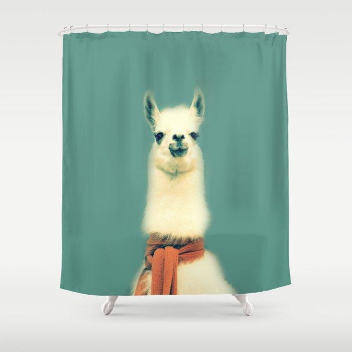 Llama Shower Curtain By Ernieandbert
