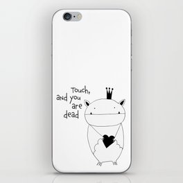 Scandinavian style bat illustration iPhone Skin