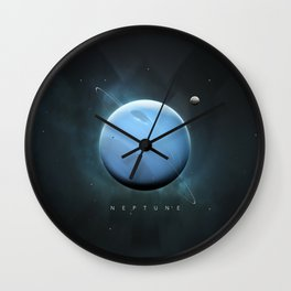 A Portrait of the Solar System: Neptune Wall Clock