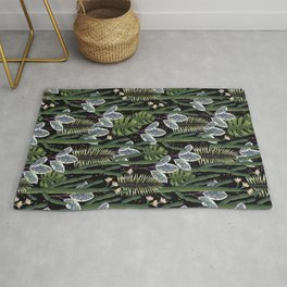 Tropical night dream. Rug