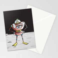 On the moon 3 Stationery Cards
