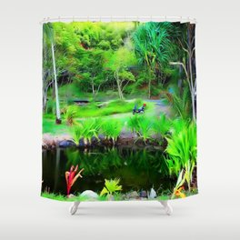 Kahana Bay Hideaway ...By LadyShalene Shower Curtain
