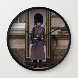 Guard House outside Buckingham Palace London England Wall Clock
