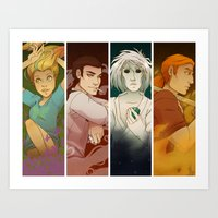 sandman Art Prints featuring Sandman Quartet by FindChaos
