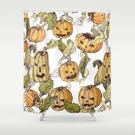 pumpkin soap Shower Curtain