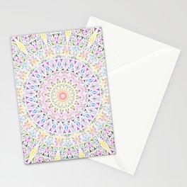 Colorful Tribal Triangle Mandala Stationery Cards