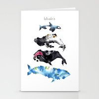 whales Stationery Cards featuring Whales by Amee Cherie Piek