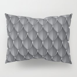 Medieval Fantasy | Metal scales  pattern Pillow Sham