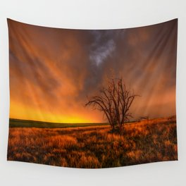 Fascinations - Warm Light and Rumbles of Thunder in Oklahoma Wall Tapestry