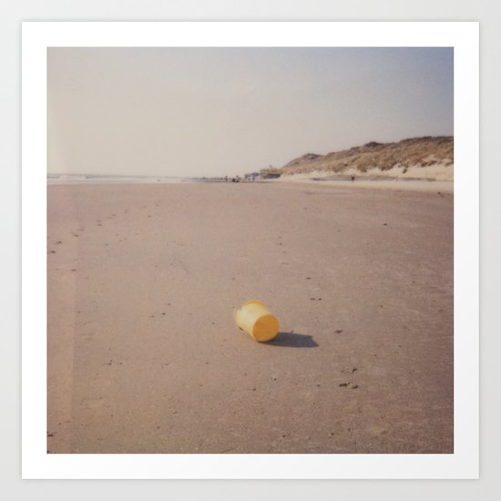 Yellow bucket Art Print