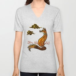 There Are No Foxes In Thailand Unisex V-Neck