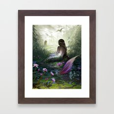 Little mermaid Framed Art Print