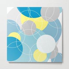 White into Blue (Circles Abound) Metal Print