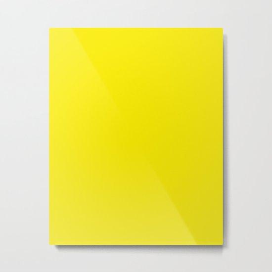 Dandelion Yellow Color Scheme Home Decor Metal Print