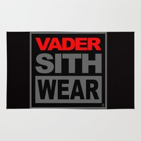 sith Area & Throw Rugs featuring Vader Sith Wear (black) by Ant Atomic