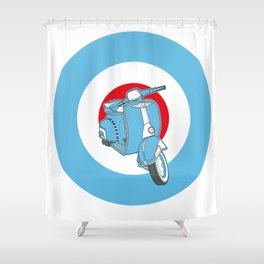 Blue Scooter Shower Curtain