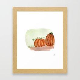 Fall Pumpkins Framed Art Print