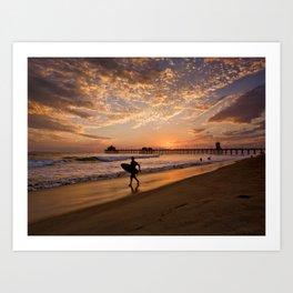 Surf City Sunsets   9/10/15   Huntington Beach California  Art Print