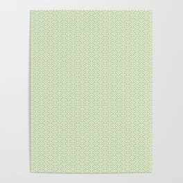 Japanese Wave Pattern in Yellow & Green Poster