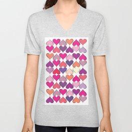 colerfull hearts Unisex V-Neck