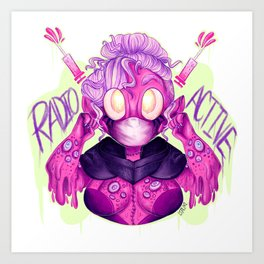 Radioactive Strawberry Art Print