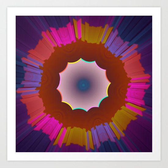 Colourful prismatic abstract Art Print