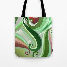 Green curve Tote Bag