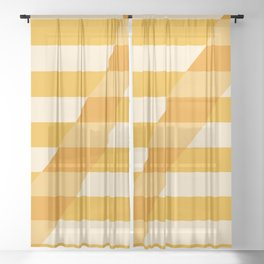 Striped Shadow 2 Sheer Curtain