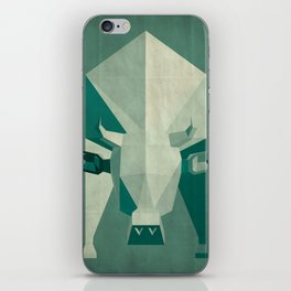 Picasso style abstract cow iPhone Skin