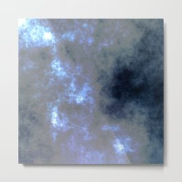Moon Light-Foggy Night Metal Print