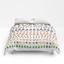 Clash of Pixels Comforters