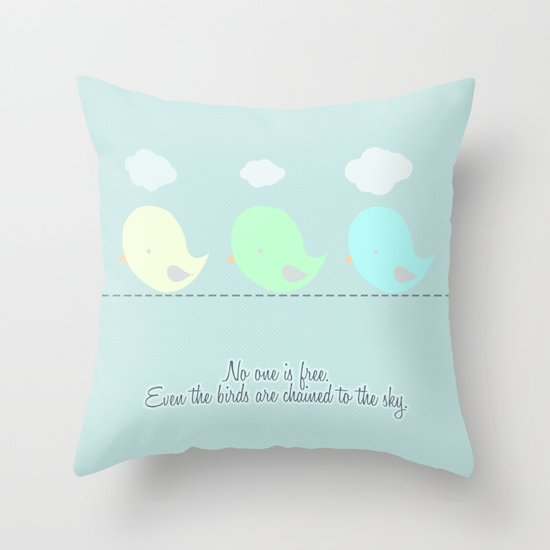 no one is free Throw Pillow
