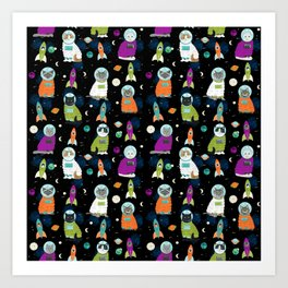 Space Cats - cats in space cute cats cat art cat print Art Print