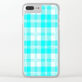 Tratan Style Pale Blue Backgrpund Clear iPhone Case