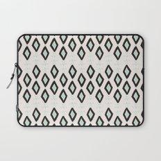 Bohemian Diamonds - Dark gray, light blue and cream pattern Laptop Sleeve
