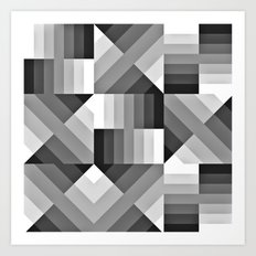 Black and White Gradient Art Print