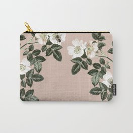 Bee Blackberry Bramble Coral Pink Carry-All Pouch