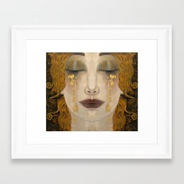Freya's tears Framed Art Print