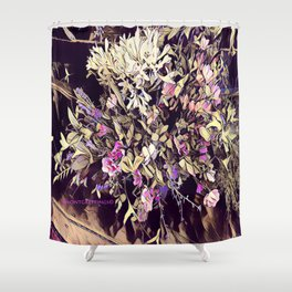 Pink and Purple for Valentines Day Shower Curtain