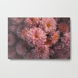 Pink Flowers on a Grave Metal Print